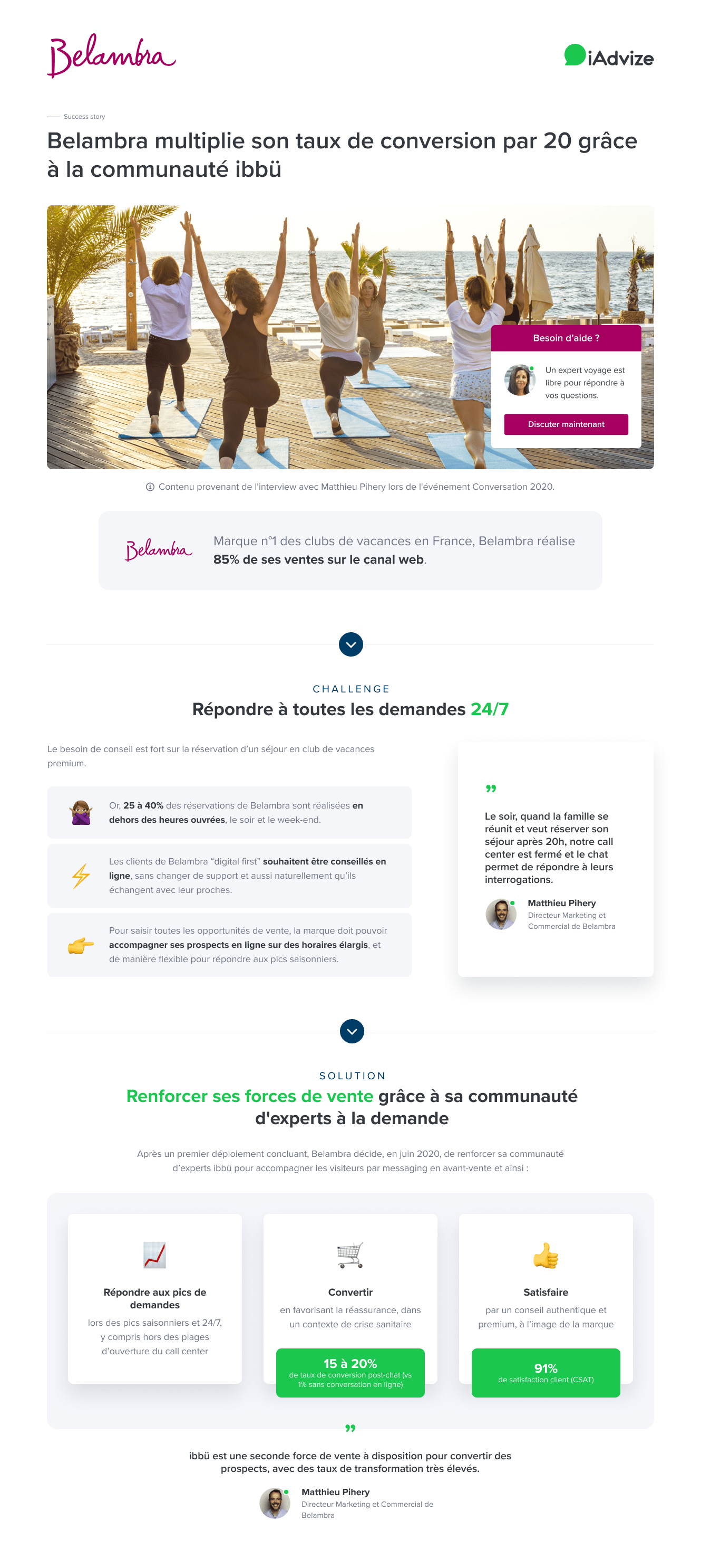 Belambra - use case FR