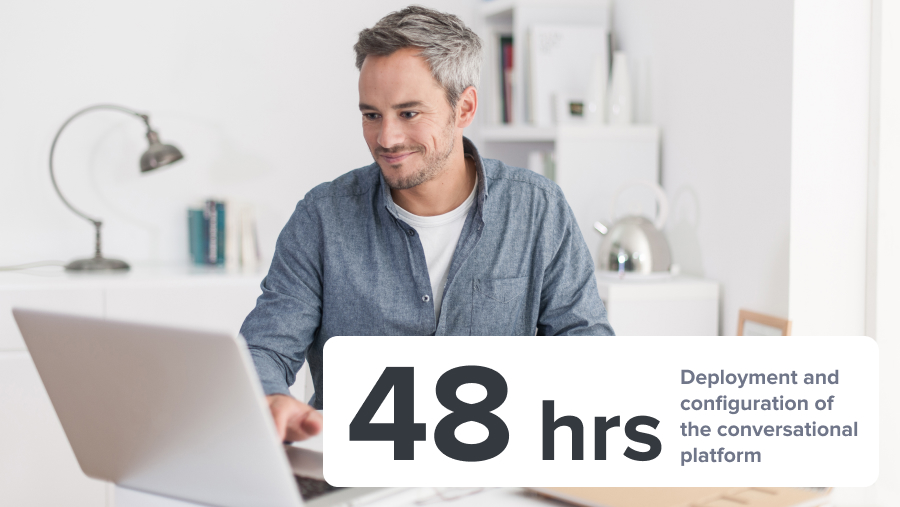 48 hrs rapid deployment configuration conversational platform messaging