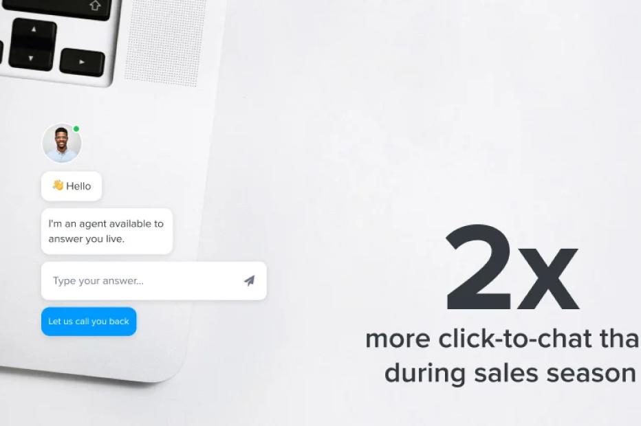 2 times click-to-chat sales season lockdown